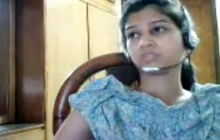 Indian girl on webcam chat